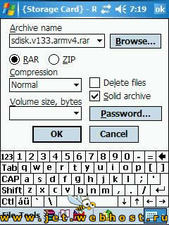 Pocket RAR 3.60 Beta 4
